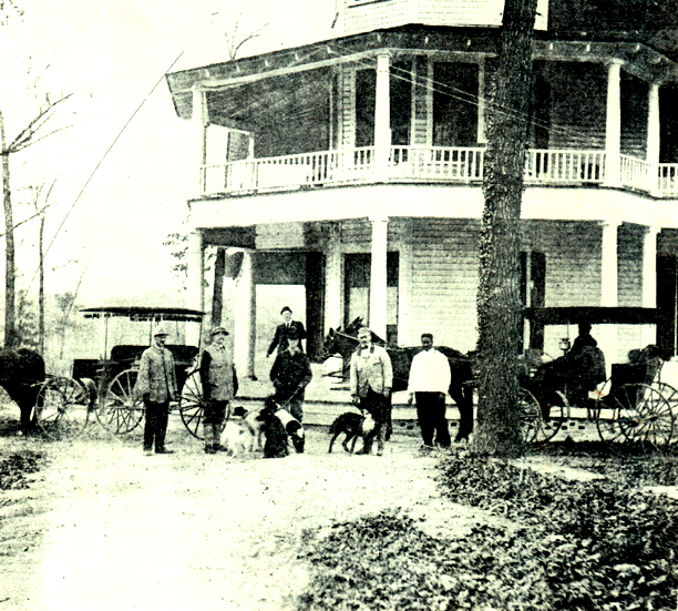 Hunting party at Townsend Hotel in Red Springs, NC